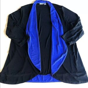 Travelers by Chico's Cardigan Womens 3 Black Blue